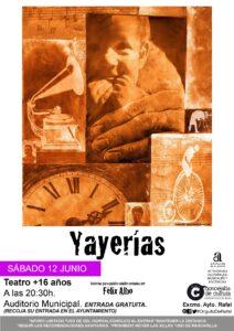 Sábado, 12-6-2021, a las 20'30 h. cita teatral en el Auditorio Municipal de Rafal