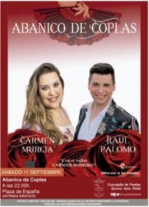 """11 de septiembre, a las 22'00 h. en Rafal: espectáculo """"Abanico de Coplas"""""""