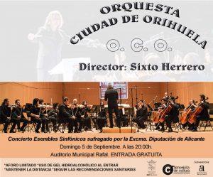 Hoy, 5 de setiembre, a las 20'00 h., concierto en el Auditorio Municipal de Rafal