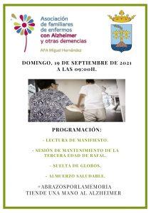 "Rafal, 19-9-2021: Jornada de convivencia del ""Alzheimer"" en la Plaza de España"