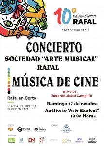 """CONCIERTO """"MUSICA DE CINE""""- BANDA SOCIEDAD """"ARTE MUSICAL"""" DE RAFAL"""